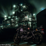 工場夜景とCB1100