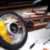 CD125T フロントタイヤ交換