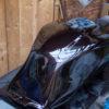 CB1100 燃料タンク塗装 その⑥ クリヤー塗装編