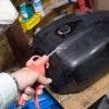 CB1100 燃料タンク塗装 その⑩ ブツ取り肌調整編