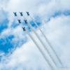 CB1100 山口ゆめ花博でブルーインパルスの展示飛行を・・・