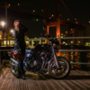 CB1100 若戸大橋と工場夜景