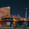 CB1100 福岡 道の駅ツーリング その⑥最終話 都市夜景とオートバイ