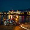 オートバイと港夜景 CB1100  呉・周防大島ツーリング その②