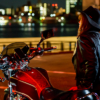 CB1100  バイク女子と夜景ポートレート 北九州編