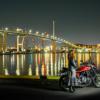 CB1100  バイク女子と夜景ポートレート 博多編